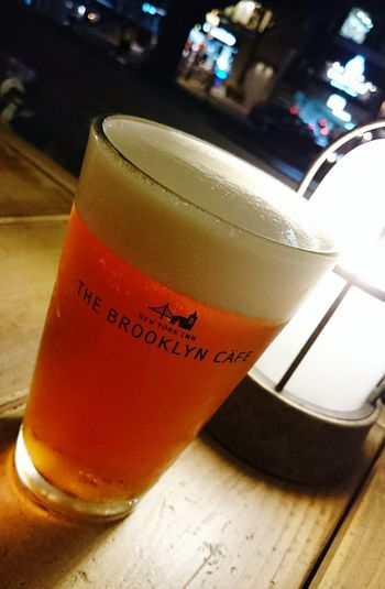 Cafe Time Cafelife Cafe Beer Beer Glass Beer Craft Beer Brooklyncafe Japan Refreshing Drink Refreshing Breeze Night Light My Smartphone Life Mobile Photography