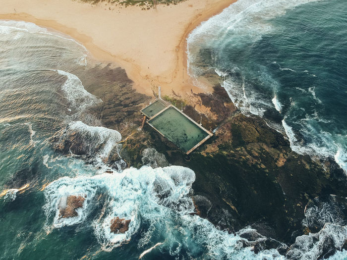 Sydney Rock Pool Wave Australia Water Sea Nature Day High Angle View Rock Motion Beauty In Nature Rock - Object Solid Scenics - Nature Aquatic Sport Outdoors Tranquility Land Sport Tranquil Scene Flowing Water Power In Nature Swimming Pool