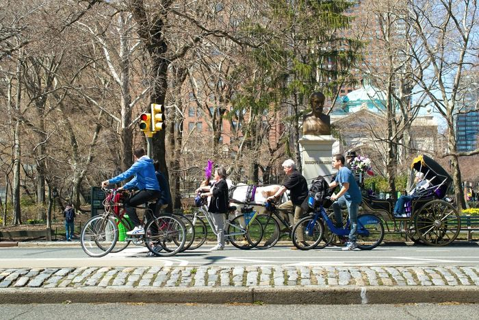 Street Photography Traffic Central Park New York USA Piople Bicycles The Best Of New York Spring Into Spring