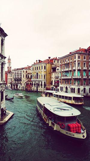 Canal Water City Nautical Vessel Clear Sky Sky Architecture Building Exterior Gondola - Traditional Boat Venice - Italy Veneto Grand Canal - Venice Boat Gondola