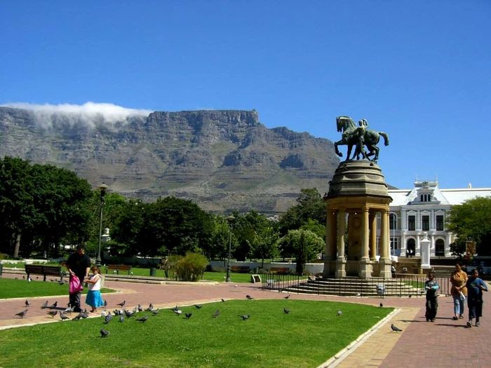 Architecture Travel Destinations Tree Day History Tourism Grass Sculpture Statue Outdoors Clear Sky Park Tablemountain Companys Garden Cape Town South Africa