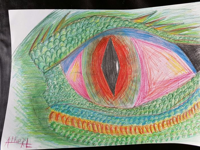 Close-up Multi Colored ArtWork Red Dragon Drawing House Green Color Eye's Eye's Looking At You♡ Taking Photos Orange Color Eye's Are Always Watching You