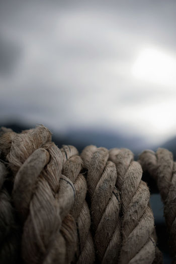 Close-up of rope against sky