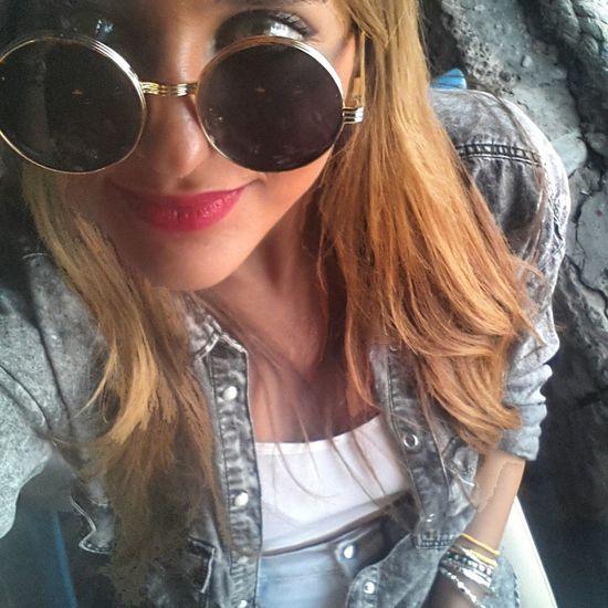 Eyes behind shades Roundandround Selfie ✌ Bythesea Today's Hot Look