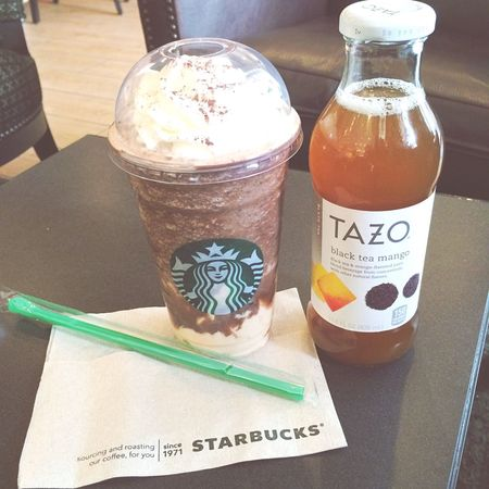 Chill day for this summer ❤️ Starbucks Tazo Tea Frappuccino Coffee Caramel Caramel Macchiato