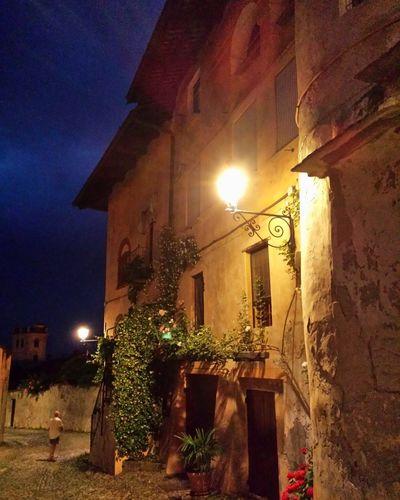 House Built Structure Building Exterior Medieval Saluzzo  Piedmont Italy