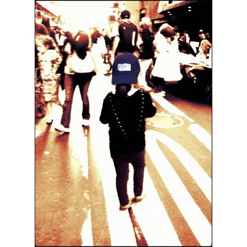 My 5 yr old is wearing her favorite Rent cap and ready! Broadwayfleamarket BwayFlea Bwayflea2013 Bcefa rent rentthemusical theaterkids timessquare nyc kids
