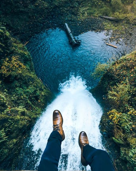 Live For The Story High Angle View Water One Person Real People Personal Perspective Human Leg Outdoors Low Section Day Men Nature Shoe Standing Leisure Activity Motion Lifestyles Human Body Part Beauty In Nature People Perspectives On Nature