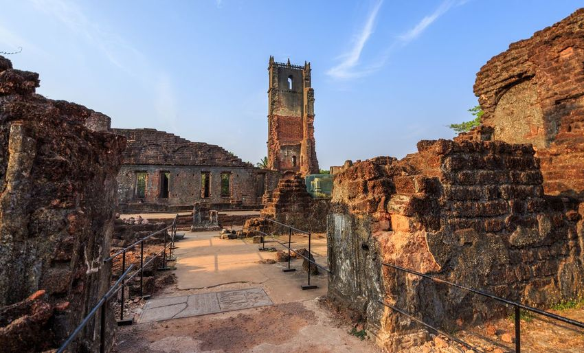 Ruins of st. augustine church, old goa, india
