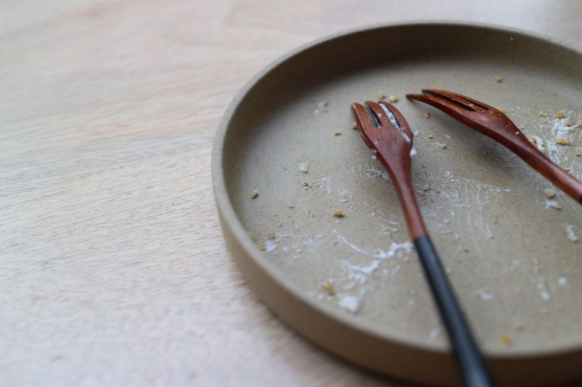 At The End, All Alone, Abandoned.... Food And Drink Table Leftovers Plate Forks Japanese Style Ocha Chaology