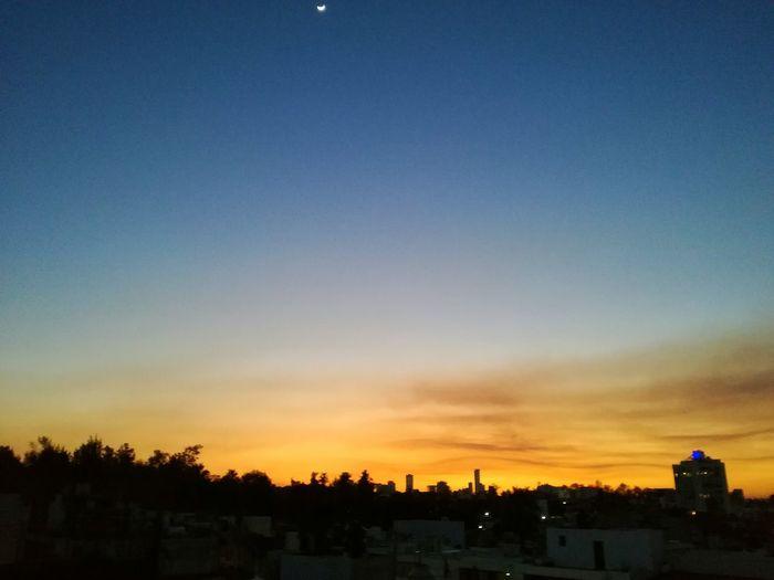 Sunset Sky Cityscape Urban Skyline City