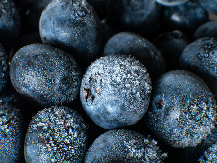 Healthy Breakfast: Close up of frozen blueberries, macro shot, top view Blueberry Breakfast Frozen Food Vegan Fruit Antioxidant Food And Drink Food Full Frame Close-up Freshness Backgrounds No People Wellbeing Indoors  Healthy Eating Large Group Of Objects Still Life Berry Fruit Abundance Selective Focus Textured  Heap Rock Temptation