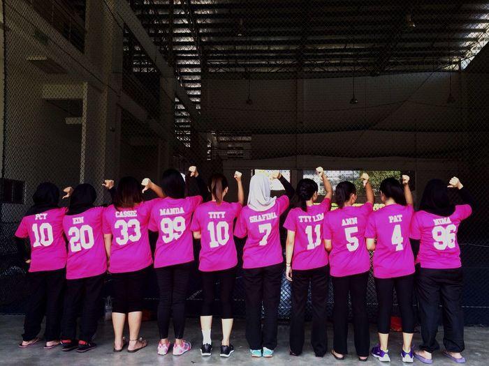 Team Borneo Netballteam Teamwork Pink
