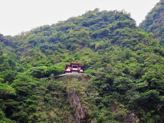 ASIA Growth Taiwan Taroko National Park Trees Architecture Built Structure Chinese Culture Colorful Green Color Landscape Lush Foliage Mountain Mountain Range No People