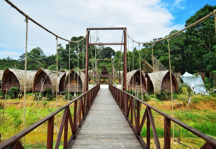 Bridge Beautifulbridge Houses Seni Ladang Budaya Green Tenggarong Indonesia_photography Outdoor Photography