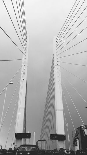 Queen Elizabeth  Bridge Architecture Black And White
