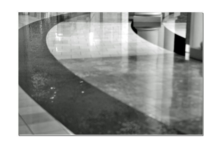 Westfield Centre 3 San Francisco Downtown Monochrome Photograhy Monochrome Lowlight Black & White Black And White Photography Black And White Black And White Collection  Upscale Urban Shopping Mall Mall Interior Floors Tiles Geometric Patterns Pattern Pieces Reflections Reflected Glory Ambient Light