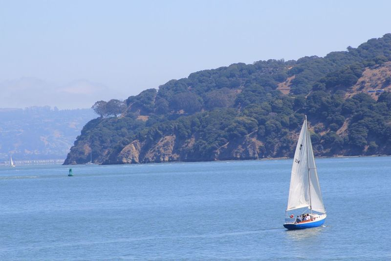Water Boat Mountain Sailing Beauty In Nature Blue Golden Gate Bridge