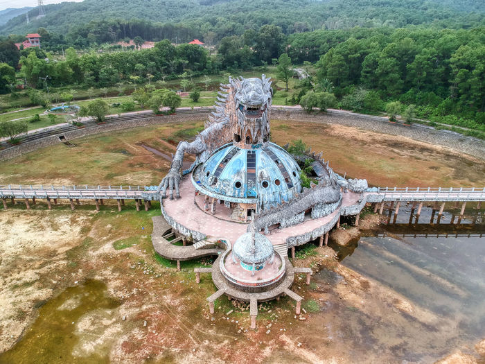 An Abandoned Water Park near Hue Tree Plant Day Nature Architecture Water Built Structure High Angle View No People Landscape Land Outdoors Travel Destinations Field Park Connection Tranquility Environment Growth Drone  Aerial View Urbex DJI X Eyeem Dji Spark