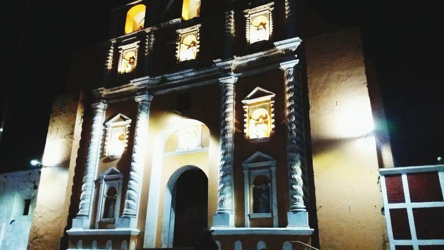 Guatemala Suchitepéquez Mazatenango Nightphotography Samayac Iglesia Católica  Iglesia Iglesias