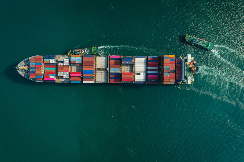 Nautical Vessel Water High Angle View Waterfront Freight Transportation Transportation Mode Of Transportation Sea Shipping  Day Ship No People Sailing Nature Container Business Container Ship Architecture Outdoors