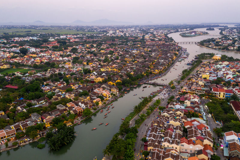 Building Exterior City Architecture Built Structure High Angle View Building Water Aerial View Nature Cityscape Residential District Day Crowded River Sky Plant Outdoors Town Community TOWNSCAPE Vietnam Hoi An Hoi An By Night Nightphotography Night Photography Ancient Town Old Town Top View Nightlife Yellow House  Boat Hoian  Panoramic Photography Panoramic Landscape Panoramic View Panorama
