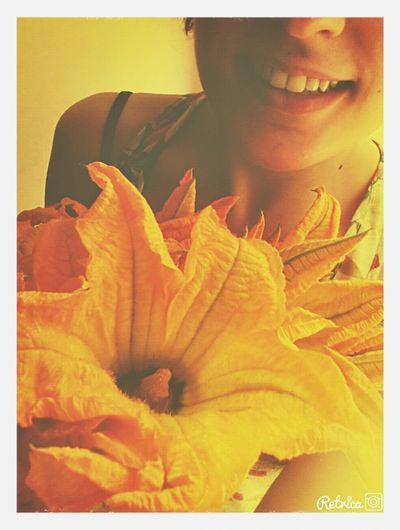 Sunny☀ That's Me :) Zucchini Flower Enjoying The Sun