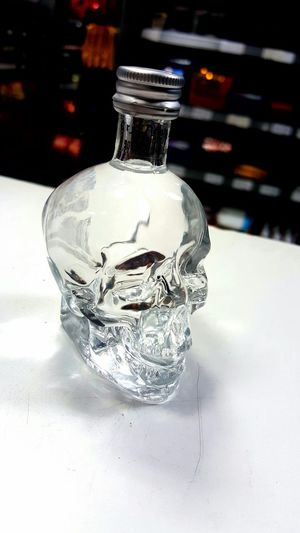 Skull Face Crystal Skull Vodka Check This Out Skullface Samsung S6 Edge ISO Taking Photos Randomshot