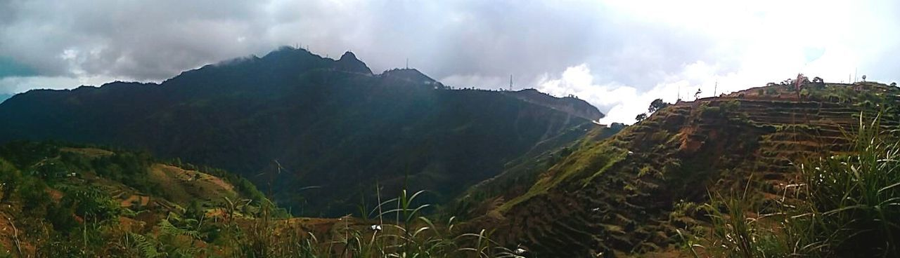 mountain, nature, cloud - sky, scenics, landscape, tranquil scene, outdoors, sky, beauty in nature, mountain range, panoramic, travel destinations, tranquility, no people, day