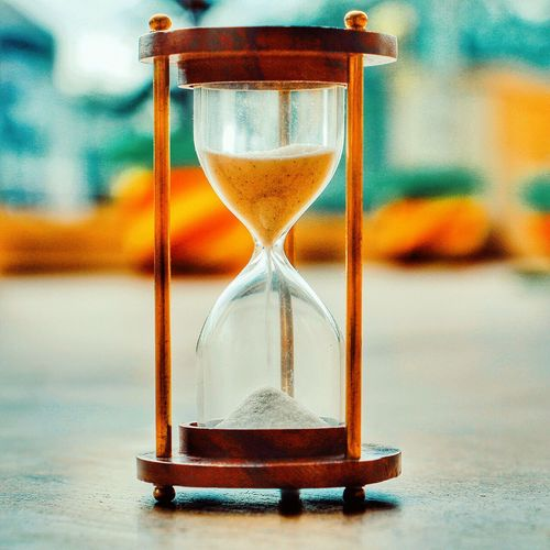 Hourglass Time Deadline Sand Timer No People Wasting Time Indoors  Countdown Clock Transition