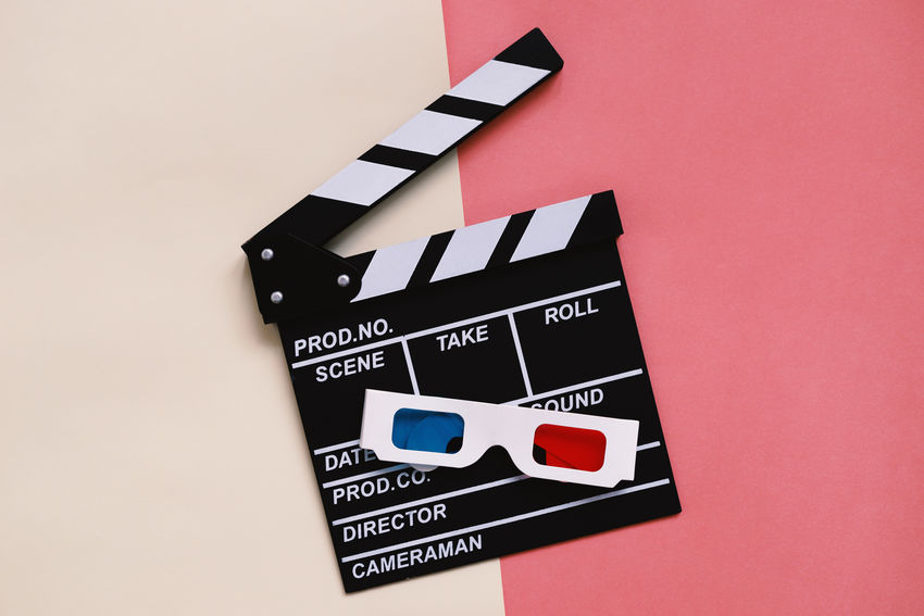 Flat lay of cinema items, clapperboard and 3d glasses on colorful bright background with copy space, entertainment concept 3D Glasses  Cinema In Your Life Cinematic Copy Space Film Fun Hollywood Production Arts Culture And Entertainment Cinema Clapper Board Clapperboard Close-up Colorful Communication Day Design Entertainment Film Industry Flat Lay Indoors  No People Slate Studio Shot Top View