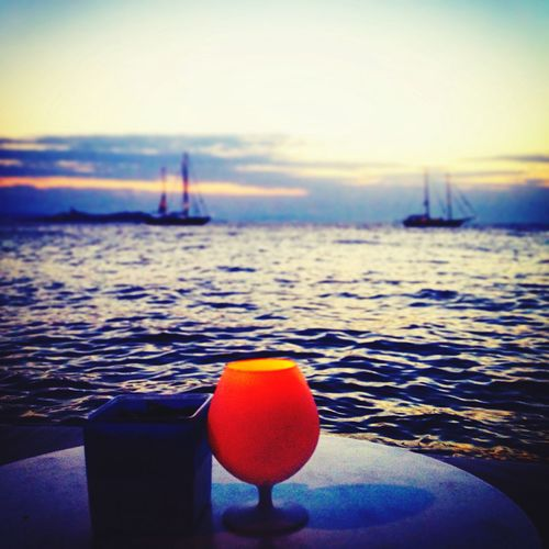 Horizon Over Water Mykonos Mykonos,Greece Summer Sunset Picoftheday 2016 Drinking Cyclades LittleVenice