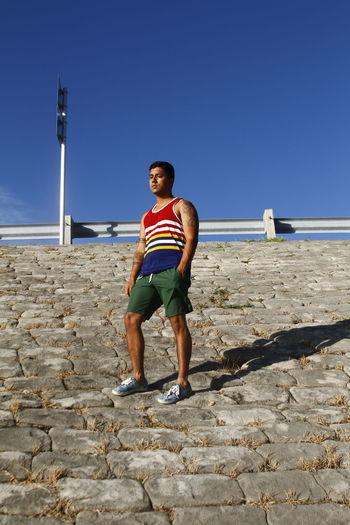 Beache Beachwear Beachwearfashion Clear Sky Fashion Fashion Photography Mens Outdoors Sunlight