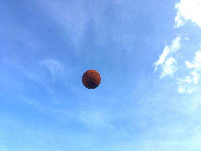 Sky Low Angle View Basketball - Sport Blue Cloud - Sky Day No People Outdoors Nature Be. Ready.