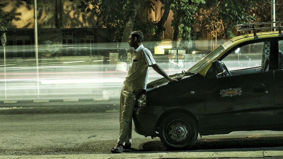 Lihgtpainting Taxi Driver Marinedrive Latenight