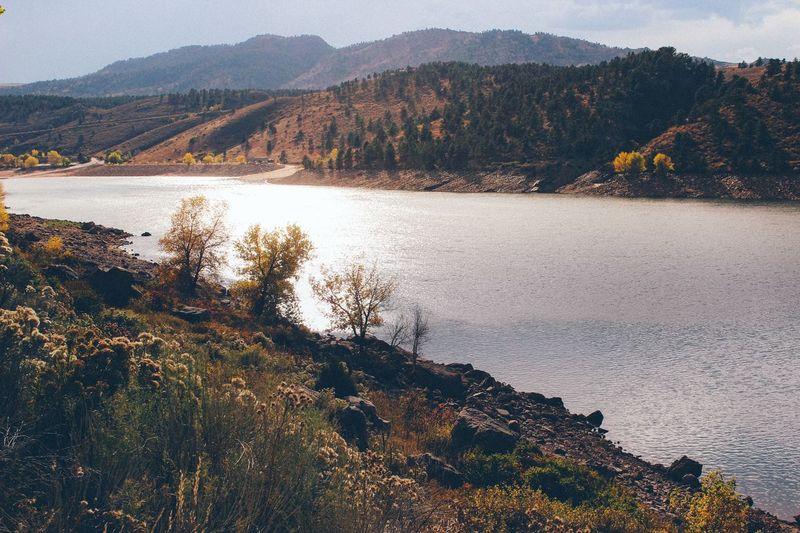 Reservoir in northern Colorado Water Nature Vista Landscape Landscape_photography Landscape_Collection Lovely Weather