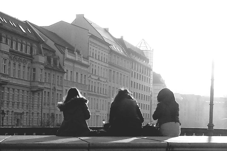 The Places I've Been Today People Watching Urban Girls Sunshine From Where I Sit Blackandwhite Urban Life
