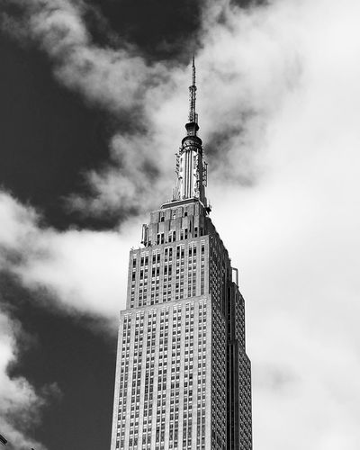 Empire State Building Nyc Winter NYC Beauty In Nature City Weather NYC Photography NYC Street Photography My City City Modern Urban Skyline Cityscape Skyscraper Business Finance And Industry Tower Sky Architecture Building Exterior