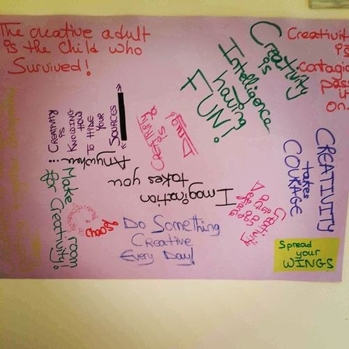 My Inspirational Creative board at the Office BetterflyMarketing