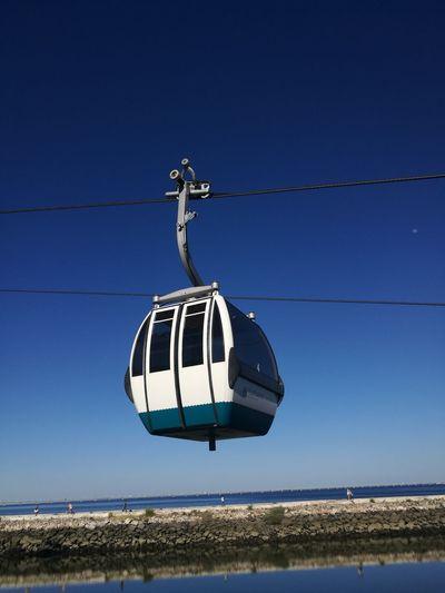 Clear Sky Teleferico Parque Das Nações Blue Sky Lisboa Portugal