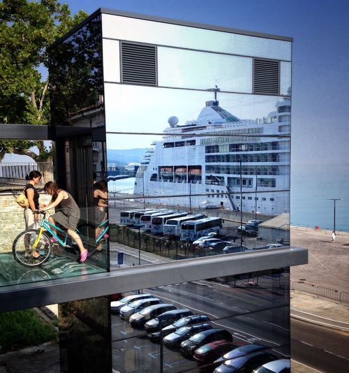 On Your Bike The Architect - 2015 EyeEm Awards Urban Reflections The Street Photographer - 2015 EyeEm Awards Streetphotography City Geometry Walking Around The City  Port Of Koper