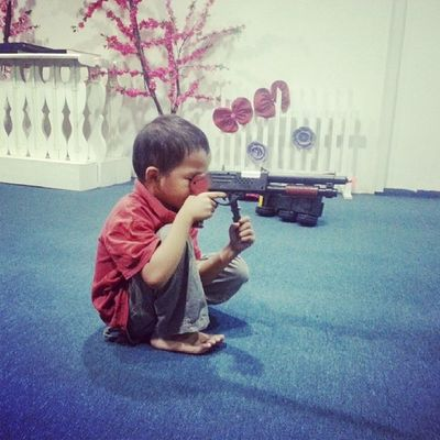 Boboi in action..