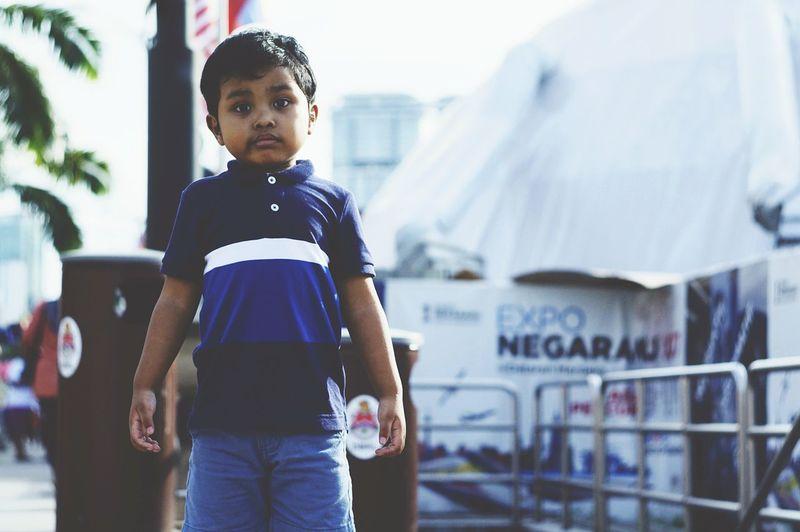 Portrait of boy standing
