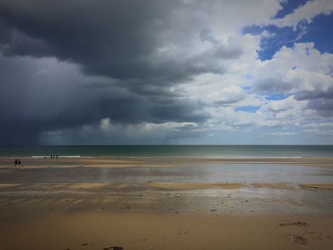 Portmarnock Dublin, Ireland Herecomestherainagain Darkness And Light Weather Landscape OpenEdit Clouds And Sky Beach