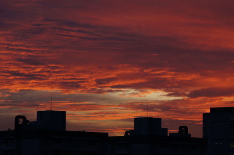 Architecture Beauty In Nature Building Exterior Built Structure City Cityscape Cloud - Sky Day Nature No People Orange Color Outdoors Silhouette Sky Sunset Urban Skyline