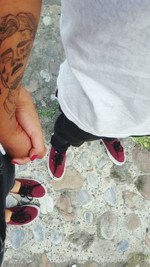 bae ♡ Boyfriend❤ Love Justtwoofus Goals Low Section Nail Polish Women Human Leg Red Men High Angle View Standing Shoe