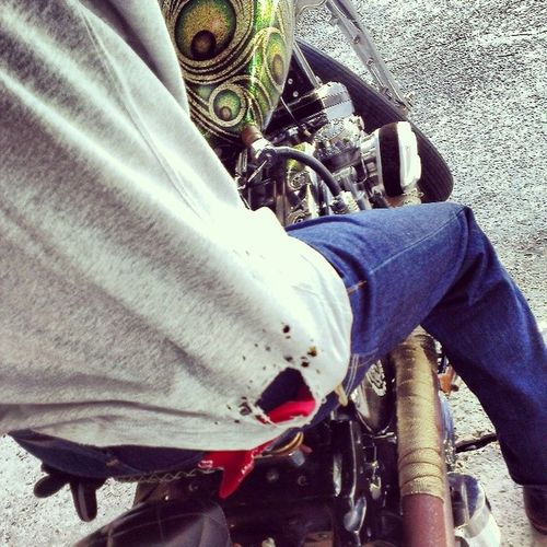 Urban Cowboys. Tornshirts don't care... Motorcyclepeople