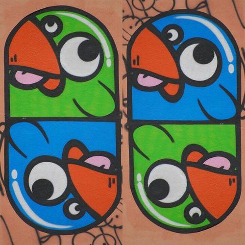 Tous les Lyonnais sont fiers de croiser au Hasard de leurs déplacements, les Zoizeaux de Knar , cet artiste de streetart qui embelli et colore avec talent, dérision et humour nos murs. graffiti lyon walls city street paint birds