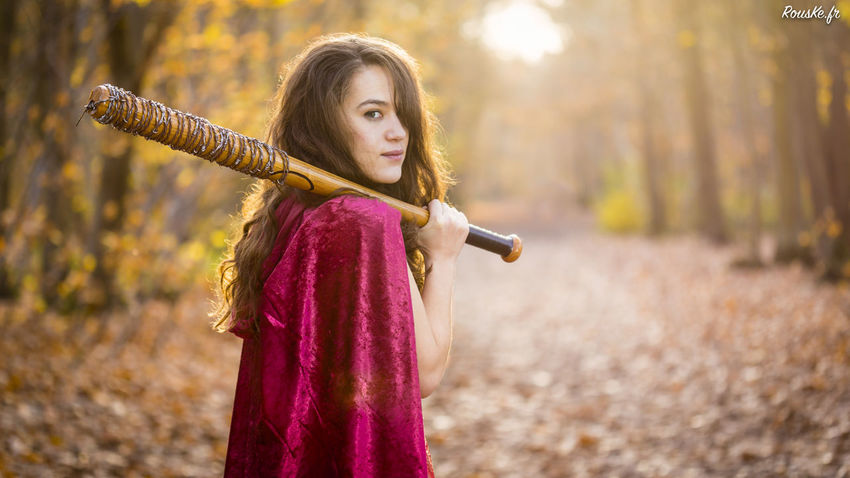 Little Red Riding Hood Adult Beautiful Woman Chaperon Rouge Childhood Close-up Day Focus On Foreground Girls Nature One Person Outdoors People Portrait Real People Standing Tree Young Adult Young Women