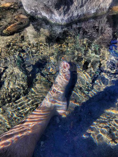 Soaking in Manby Hot Springs near Taos, NM Human Body Part Human Leg